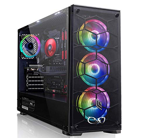 CEO-Tech Omega V1 PC Gaming - CPU Intel G5520 3.80GHz 4MB | RAM 8GB DDR4 | SSD 240GB | GeForce GTX1050 2GB | Ultra HD 4K | 500W | Wi-Fi | Windows 10 Pro