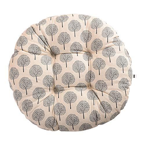 Hosaire Coussins de Chaise Esthétique et Confortable Ronde Motif de Arbre Vintage Coussins d'Assise Décoration pour intérieur et extérieur Chaise de Jardin