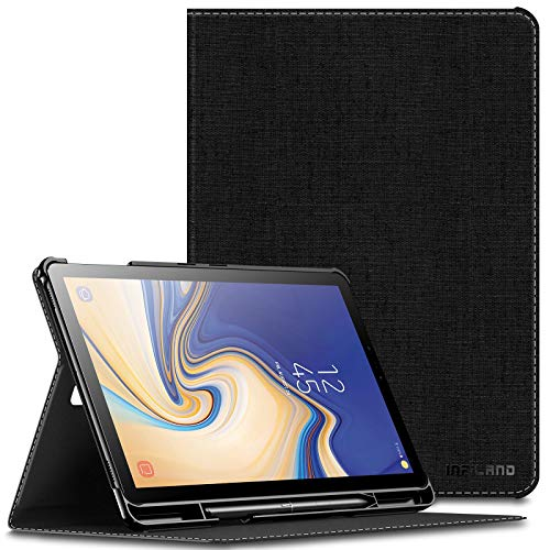 Infiland Samsung Galaxy Tab S4 10.5 Case with S Pen Holder (Auto Wake/Sleep) for Samsung Galaxy Tab S4 10.5 Model SM-T830/ T835 2018 Release, Galaxy