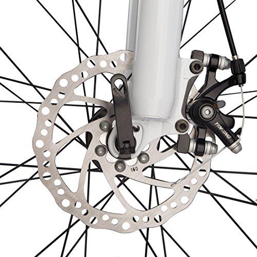 Ultrasport Hardtail Mountainbike 26 Zoll, 21-Gang Shimano-Kettenschaltung, Federgabel, mechanische Scheibenbremsen, A-Head Vorbau, inkl. Trinkflasche - 5