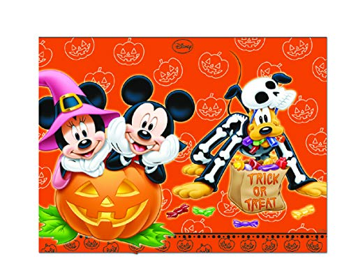 Disney 71664 Micky Maus Tischdecke Mickey Halloween, 120 x 180 cm, orange