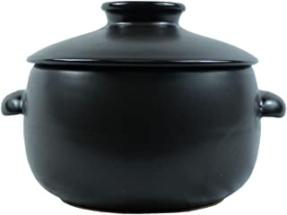 Korean Traditional Ceramic Rice Cooker with Lid, Earthenware Rice Cooker, Japanese Style Donabe Rice Cooker