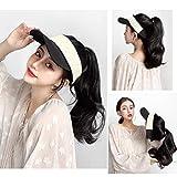 KXW Baseball Leere Top Hats Perücken für Frauen, Summer Sun Hat Cap, Hut mit synthetischer Langer...