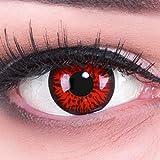 MeralenS 1 Paar farbige rote Crazy Fun red demon Jahres Kontaktlinsen.Topqualität zu Fasching,...