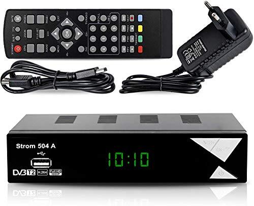 bon comparatif Décodeur TNT Strom504 Full HDD VB-T2 – Compatible HEVC264 – (HDMI, Péritel, USB, Digital Plus) Noir un avis de 2021