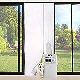 Queta Junta para ventanas para dispositivos móviles de climatización, para aire acondicionado, secador de ropa, secador de aire, fijación en puertas de balcón, alternativa a la junta de ventanas