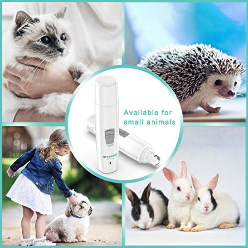 INVENHO Pet Nail Grinder Electric Paw Trimmer Clipper Small    Medium Large Dogs Cats Portable