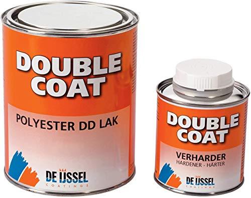 De IJssel 2K Bootslack Double Coat Farbe Perlweiß RAL 1013 | 1 kg Set | 2K Lack Yachtlack Decklack Weiß für Holz Gfk Epoxid Polyester ABS Stahl Aluminium