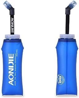【メール便】350ml 600ml ハイドレーションパック 給水 ボトル 携帯 無毒 無臭 ソフト 折りたためる トレッキン グランニング