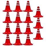 Toddmomy 30 Conos de Tráfico de Carretera Simulan Juguetes de Juego Bloques de Carretera Simulaciones de Señales de Tráfico Conos de Tráfico en Miniatura para La Construcción de La