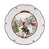 Villeroy & Boch Toys Fantasy-Cuenco Grande, diseño de Paseo, Porcelain Premium, Blanco, 24,5 x 24,5 x 4 cm