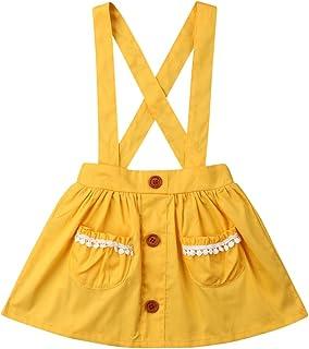 46ec4fcc3d4 Honganda Cute Suspender Skirt Kids Toddler Baby Girl Solid Color Overalls  Sleeveless Backless Dress Outfit