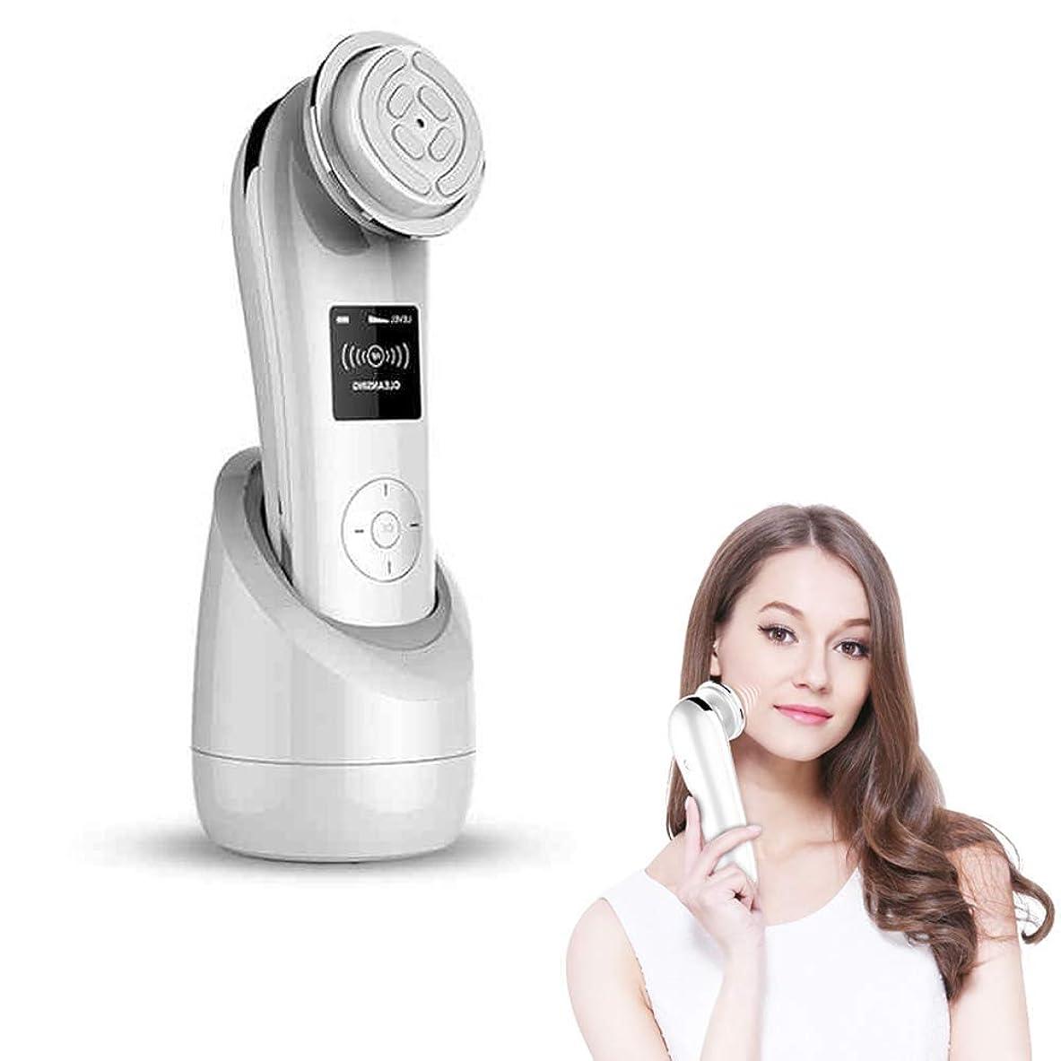 粘着性遮るガイドライン美容機EMS LED光子顔リフティング引き締めマッサージ顔RF肌の若返り反年齢ディープクリーニングデバイス