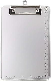 BASSK d'écriture en alliage d'aluminium portatif A4 / A5 Planchettes à pince et porte-formulaires,Porte-Blocs, Presse-Papiers
