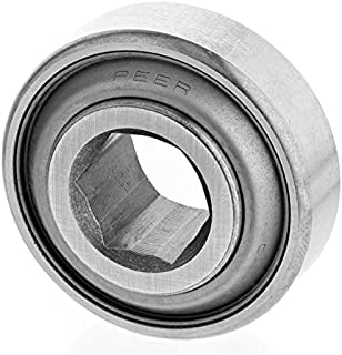 Peer Bearing 207KRRB9 Agriculture Bearing, Hex Bore, Two Single Lip Seals, 1.125