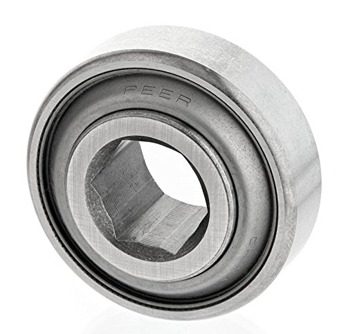 """Peer Bearing 209KRRB2 Agriculture Bearing, Hex Bore, Two Single Lip Seals, 1.5"""" ID, 3.3465"""" Spherical OD, 0.7480"""" Inner Ring Width, 1.1810"""" Outer Ring Width"""