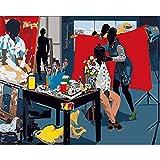 (16x20 Pulgadas, Sin Marco) Pintar por Numeros para Adultos Niños Pintura por Números con Pinceles y Pinturas Decoraciones, DIY Pinturas para el Hogar Maquillaje de actor