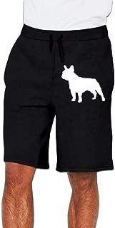 Men's French Bulldog Silhouette Jogger Shorts Pajama Short