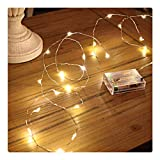 Sanniu Led String Lights, Mini Battery Powered Copper Wire Starry Fairy Lights,...