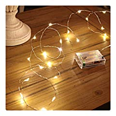 *SUPER BRIGHT 50 LED STRING LIGHTS: our LED String Lights are perfect apply to any decorative project. these delicate 50 LED chips can diffuse glaring lights with steady 360 degree viewing angle. Bring you into a special lighting world. * INDOOR STAR...