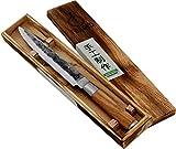 Forged Olive Schinkenmesser 20cm, handgefertigt, in Holzkiste