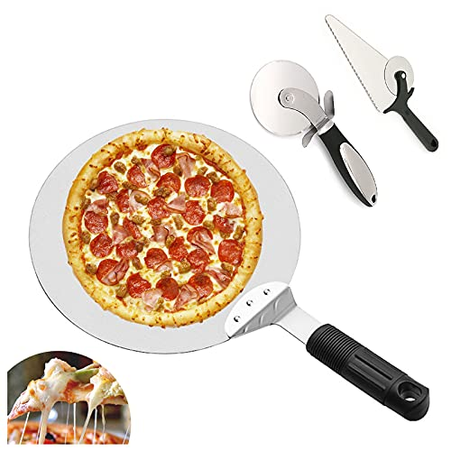 ZYSM Pala para Pizza Palas para Pizzas Profesional Pala De Aluminio para Pizza Mango De Madera Utilizado En El Horno Pizza Horneada A Mano Y Tostadas