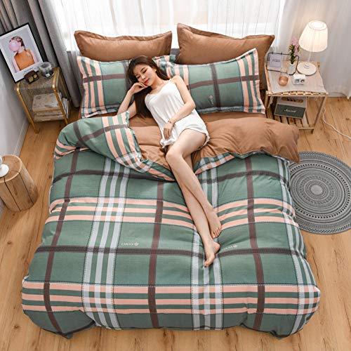 XWHKX Langstapelige, gebürstete, vierteilige, dreiteilige, Dicke Steppdecke aus Baumwolle