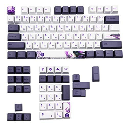 ATATMOUNT 112 Tasten Lila Datang Keycap PBT Sublimation Keycaps OEM-Profil Mechanische Tastatur Keycap Chinesischer Stil GK61 GK64
