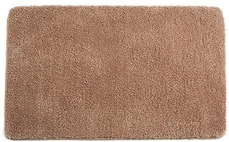 HAOSHUAI Innen Fußmatte Haustür-Matte Anti-Rutsch-Gummi-Rück Fußmatte Magie Interner Schmutzfänger Eingang Teppich Maschine waschbar Tür Teppich-Brown (Color : Brown, Size : 16 x 24 inch)