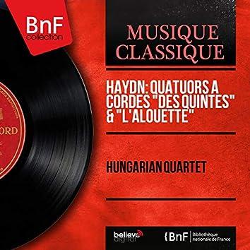 """Haydn: Quatuors à cordes """"Des quintes"""" & """"L'alouette"""" (Mono Version)"""