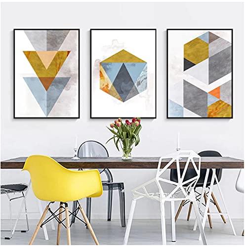 Mwypec impresiones de lienzo geométricas abstractas arte de pared decoración moderna impresiones artísticas de pared minimalistas carteles de arte estético moderno abstracto