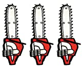 Pack of 3 Chainsaw Lawn Mower Cut Down Trees Cartoon Sew Iron on Embroidered Iron on Patch Applique Sticker for Men Women Boys Girls Clothes Jeans T-Shirt Hat Backpacks