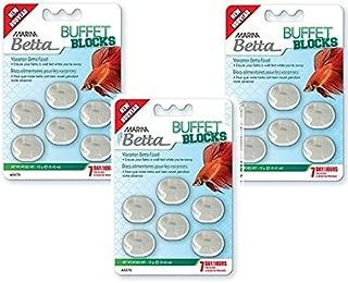 (3 Pack) Marina Betta Vacation Block Food, 6 Blocks each