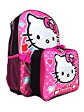 Hello Kitty Girls School Backpack Book Bag Lunch Box Set