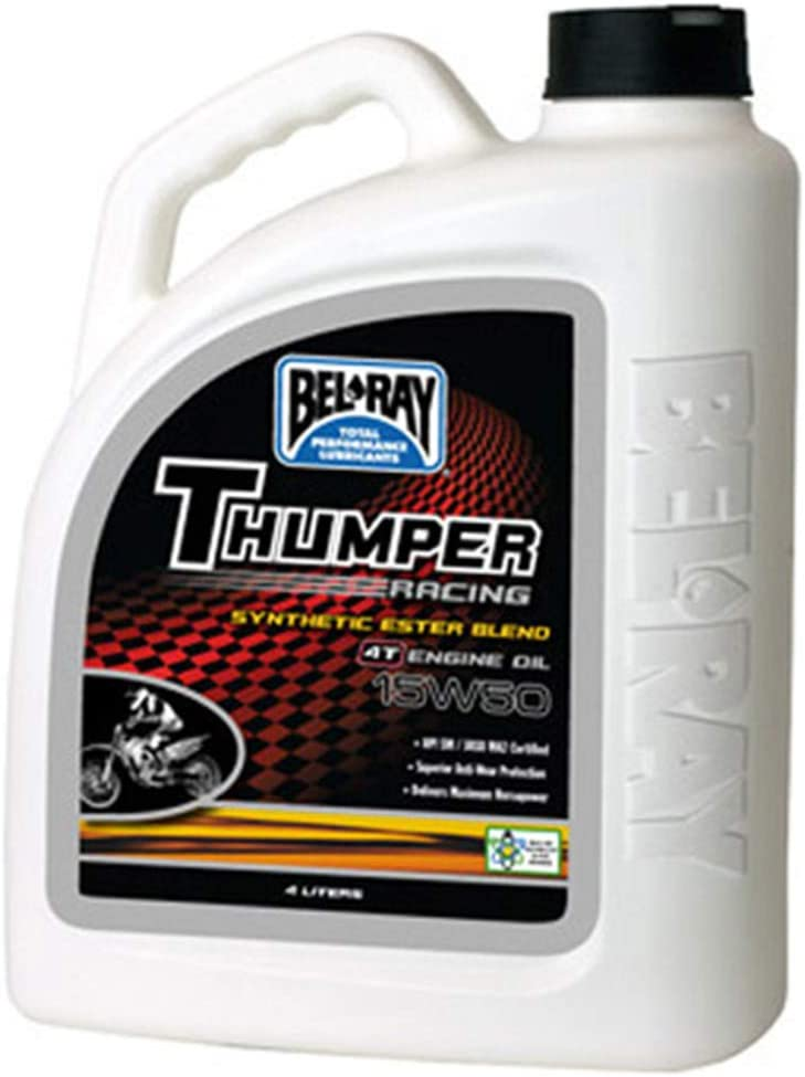 Bel-Ray Thumper Racing Synthetic Ester Blend 4T 15W50 Engine Oil 4 Liter 99530-B4LW