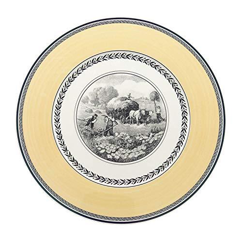 Villeroy & Boch Audun Ferme Buffet Plate, 12 in, White/Gray/Yellow
