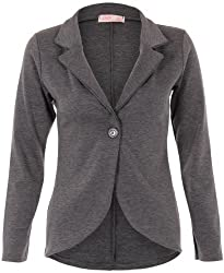 """Model wears: UK 8; Length from shoulder: 23""""/58.5cm Party, Evening, Fashion, Office, Work, Casual, Spring and Comfort Stretch ponte jersey fabric with shaped hem Notched lapel with one button fastening No wardrobe is complete without afailsafe blaze..."""