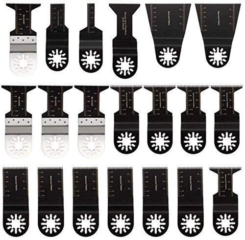 Mnjin 20 almohadillas de lija oscilantes para Fein Multimaster Bosch Ryobi hojas de sierra oscilante multiherramienta herramienta oscilante abrasivo