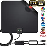 HDTV Antenna, 2019 Newest Indoor Digital TV Antenna 130 Miles Range with Amplifier