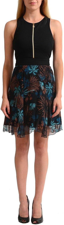 Versace Jeans 100% Silk Multicolor Sleeveless Women's Sheath Dress