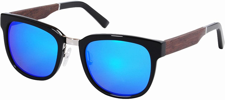 Men's Sunglasses Acetate Fibre Frame Sunglasses Wood Leg Polarized TAC Lens UV Predection Driving Fishing Beach Outdoor Sunglasses, Fashion Sunglasses