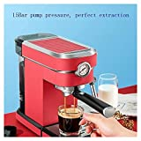 BKWJ Las máquinas de café filtran las cafeterías, máquinas espresso semiautomáticas, adecuadas para la cafetería de la oficina en el hogar, 1.1L (Color : Red)