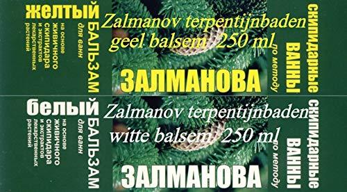 Terpentinbäder von Zalmanov, gelber + weiser Balsam, 250 + 250 ml