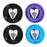 Earbud Case Holder Pack [4 Pack], MAIRUI Earphone Case Wrap Earbuds Nest Tangle-Free Silicone Magnetic Organzier
