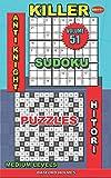 Killer sudoku Anti knight. Hitori puzzles: Medium levels: 51 (Killer sudoku and his friends)