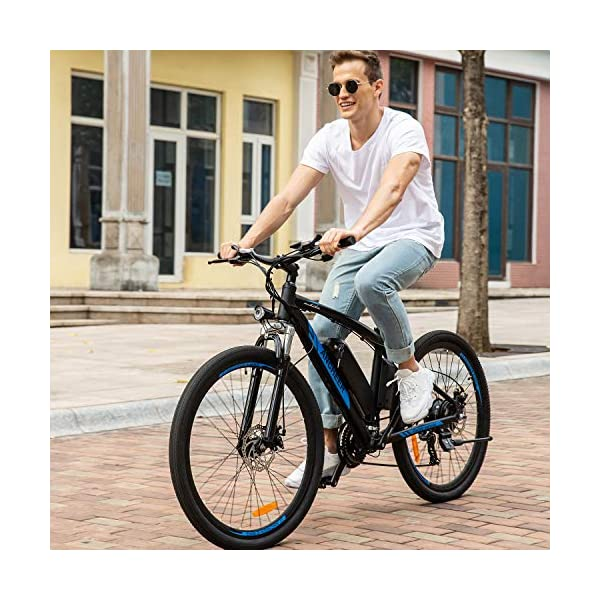 "51cUky TGAL. SS600  - ANCHEER Elektrofahrrad Ebike Mountainbike, 26""/27.5"" Elektrisches Fahrrad mit 36V 8Ah/10Ah/12.5Ah Lithium-Batterie und Shimano 21-Gang"