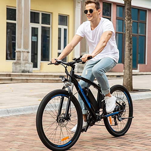 ANCHEER Electric Mountain Bike 27.5' for Adults. (Blue)