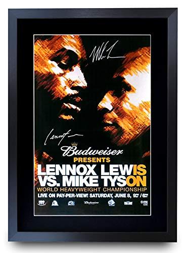 HWC Trading Foto de autógrafo firmada de Lewis Tyson Fight Lennox Lewis vs. Mike Tyson...