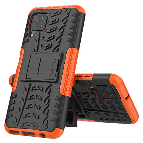 GOBY Compatible avec Coque Huawei P40 Lite en TPU Polyuréthane Antichoc Anti-Rayure Silicone Back Cover Skin Cases Housse Etui Protector pour Huawei P40 Lite (orange)