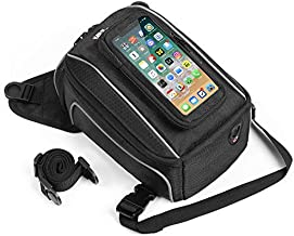 Motorcycle Magnetic Tank Bag Phone Pouch, Touch screen Motorbike Gas Oil Fuel Tank Bag Universal for Street Bike Rebel Boulevard with Metal Tank